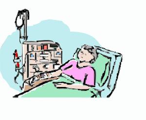 אישה חולה